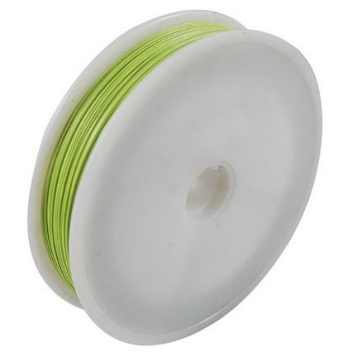 Steel Cord, Jewelry DIY Making  0.45 mm color yellow green -100 meters