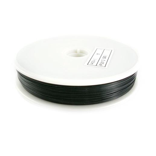 Steel Cord, Jewelry DIY Making 0.38 mm color black -50 meters