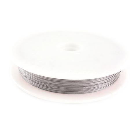 Ατσαλόσυρμα/ ντίζα 0,38 mm ασημί ~ 48 μέτρα