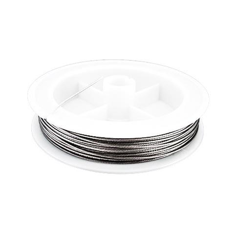 Cablu de oțel 0,80 mm culoare argintiu -20 metri