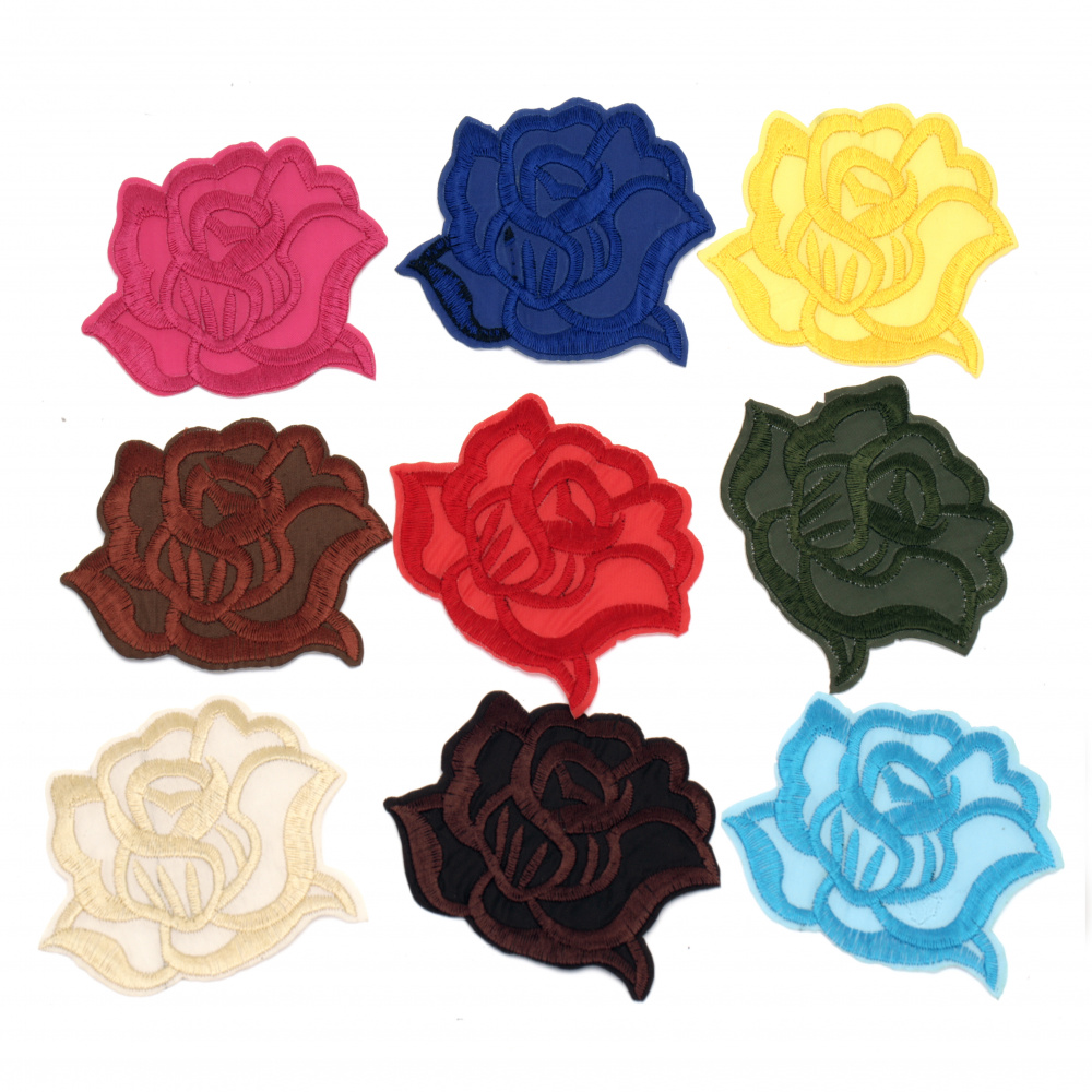 Aplicație 80x65 mm Culoare trandafir asortată