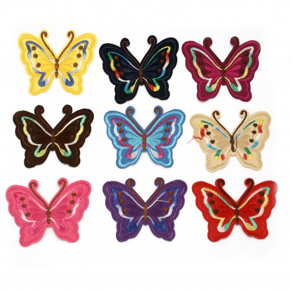 Θερμοκολλητικά μοτίφ ρούχων, 70x90 mm assorte πεταλούδα