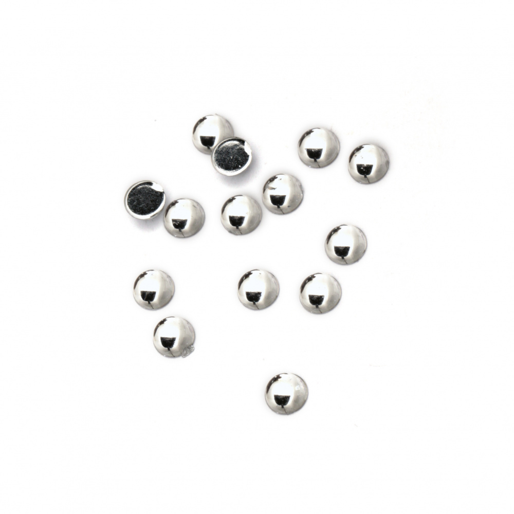 Acrylic stone for gluing 5 mm round transparent first quality -100 pieces