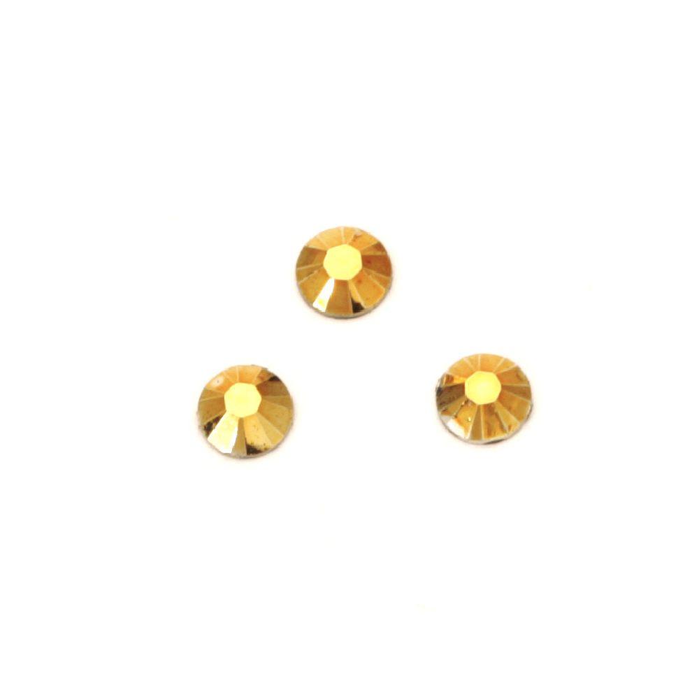 Ακρυλική στρόγγυλη πέτρα 4 mm χρυσό -100 τεμάχια