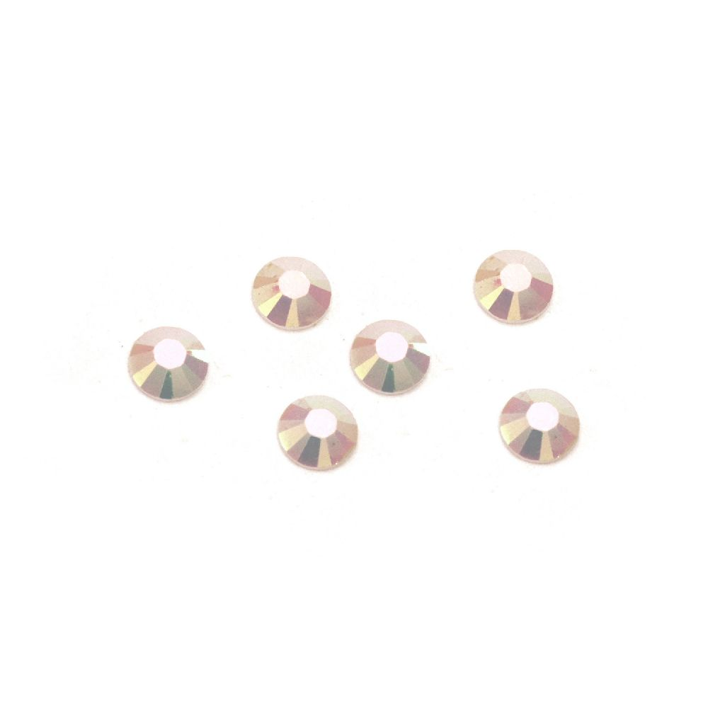 Acrylic stone for gluing 3 mm round white solid arc faceted -2 grams ~ 350 pieces