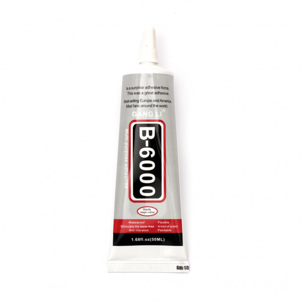 Κόλλα σιλικόνης διαφανής                          B-6000 -50 ml