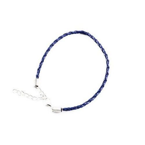 Bratara imitatie piele 200x3 mm albastru inchis