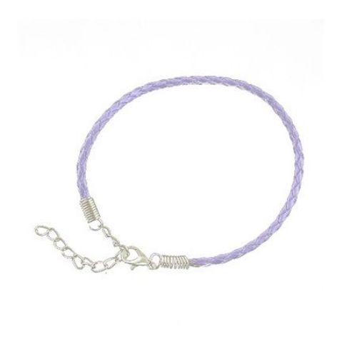 Bratara imitatie piele 200x3 mm violet
