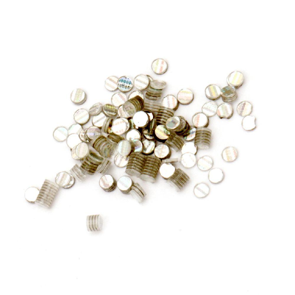 Χρυσόσκονη ασημί ιριδίζον 1.6 mm -10 γραμμάρια