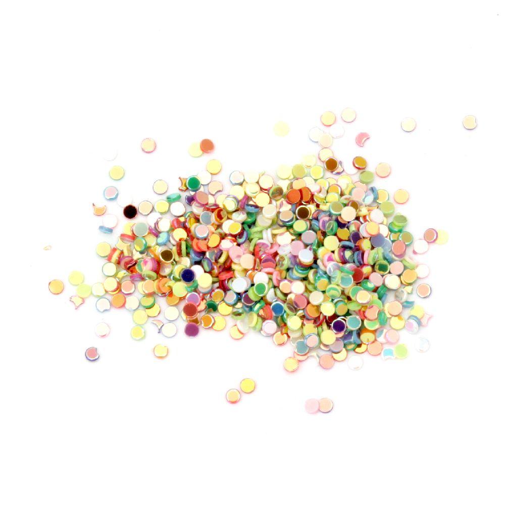 Brocart curcubeu multicolor 1,6 mm -10 grame