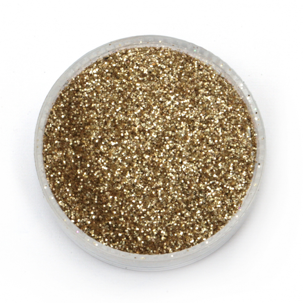 Brocade/glitter powder 0.3 mm 250 microns gold/champagne - 20 grams