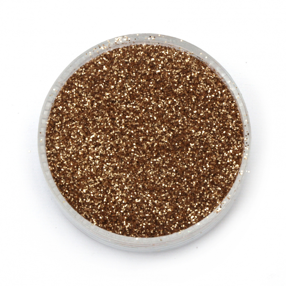 Brocade/glitter powder 0.3 mm 250 microns gold/salmon - 20 grams