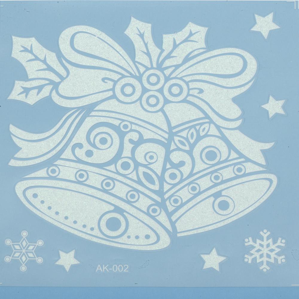 Стикери за стъкло Коледа АСОРТЕ 180x180 мм