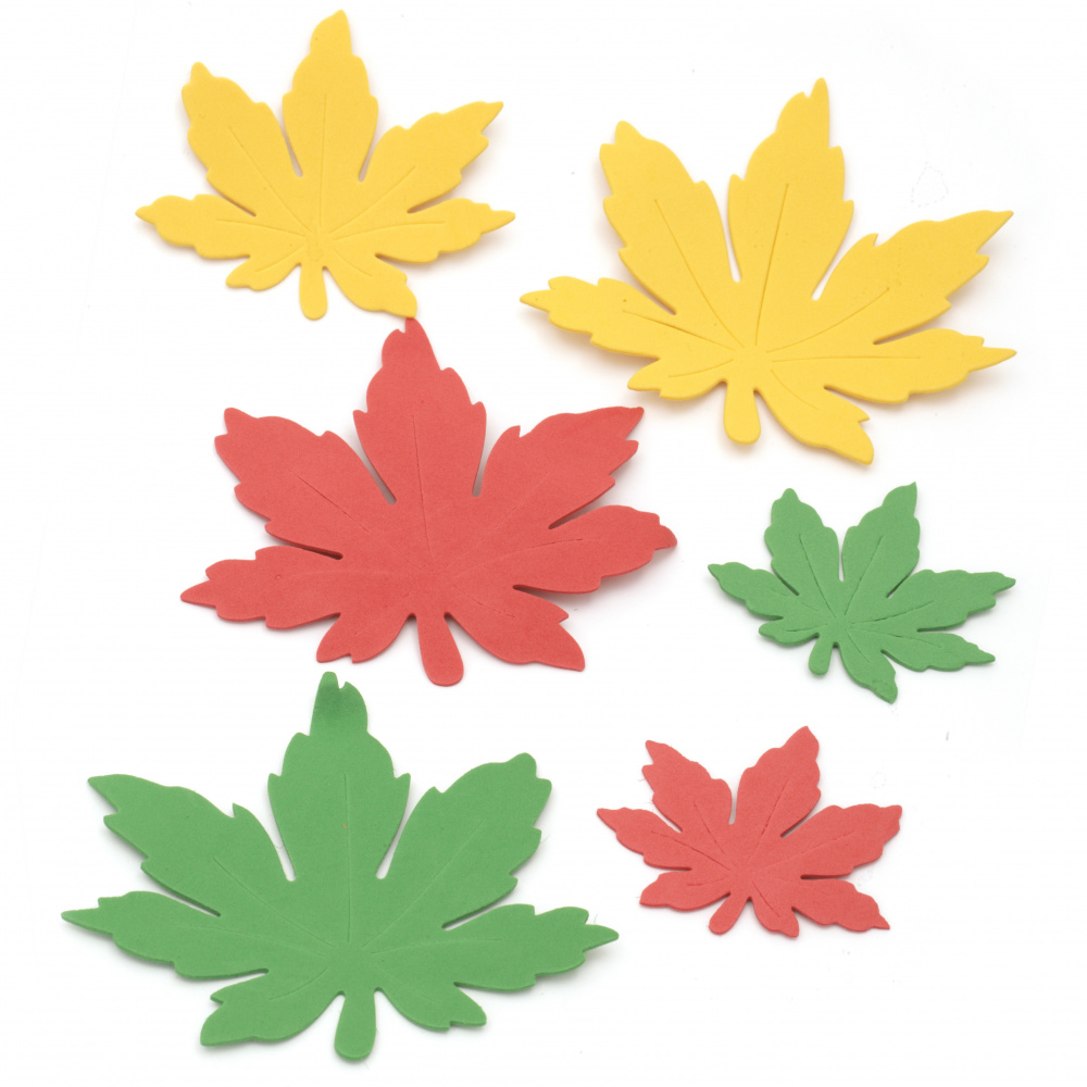 Foam Autumn leaves /EVA foam material/ 70 ±130x65±110 mm - 20 pieces