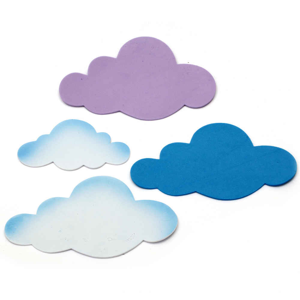 Clouds of foam /EVA foam material/ 110±160x65±110 mm - 12 pieces