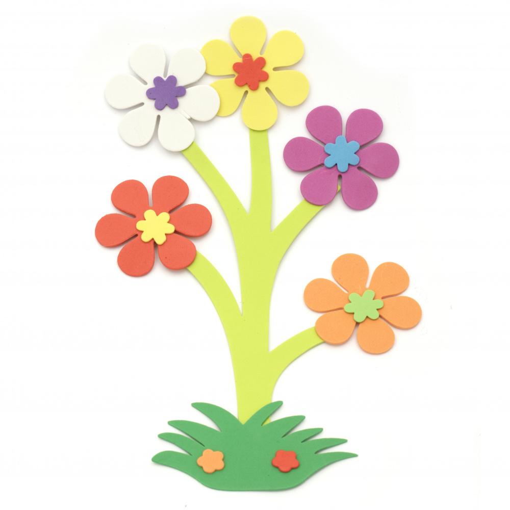 Buchet de flori de foam / material EVA / 180x285 mm - 6 bucăți