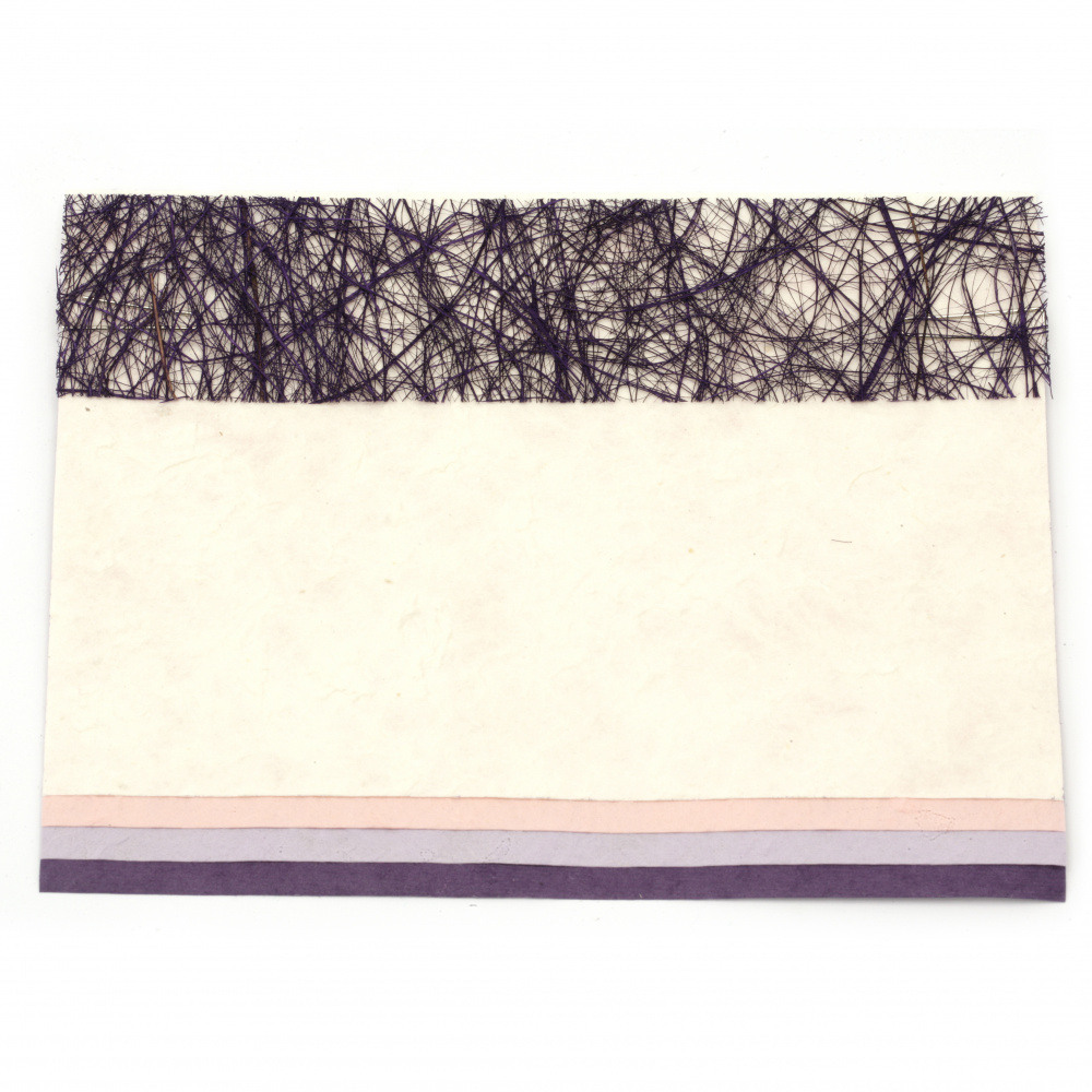 URSUS скрапбук комплект Violet -хартия mulberry асорти цветове 4 листа А5 10x15 см и микс декоративни елементи