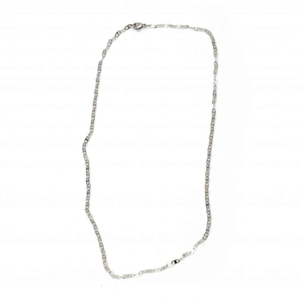 Синджир от неръждаема стомана цвят сребро 304 500x3 мм