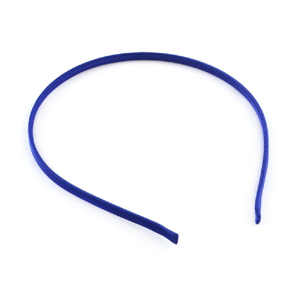 Диадема метал текстил 5 мм синя тъмна