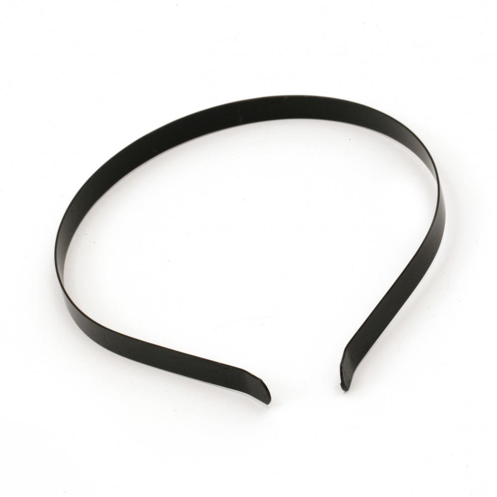 Диадема метал 10 мм черна