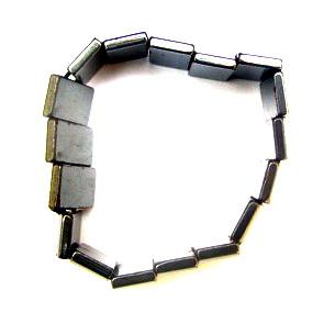 Bratara din piatra naturala HEMATITE magnetic 10x18 mm
