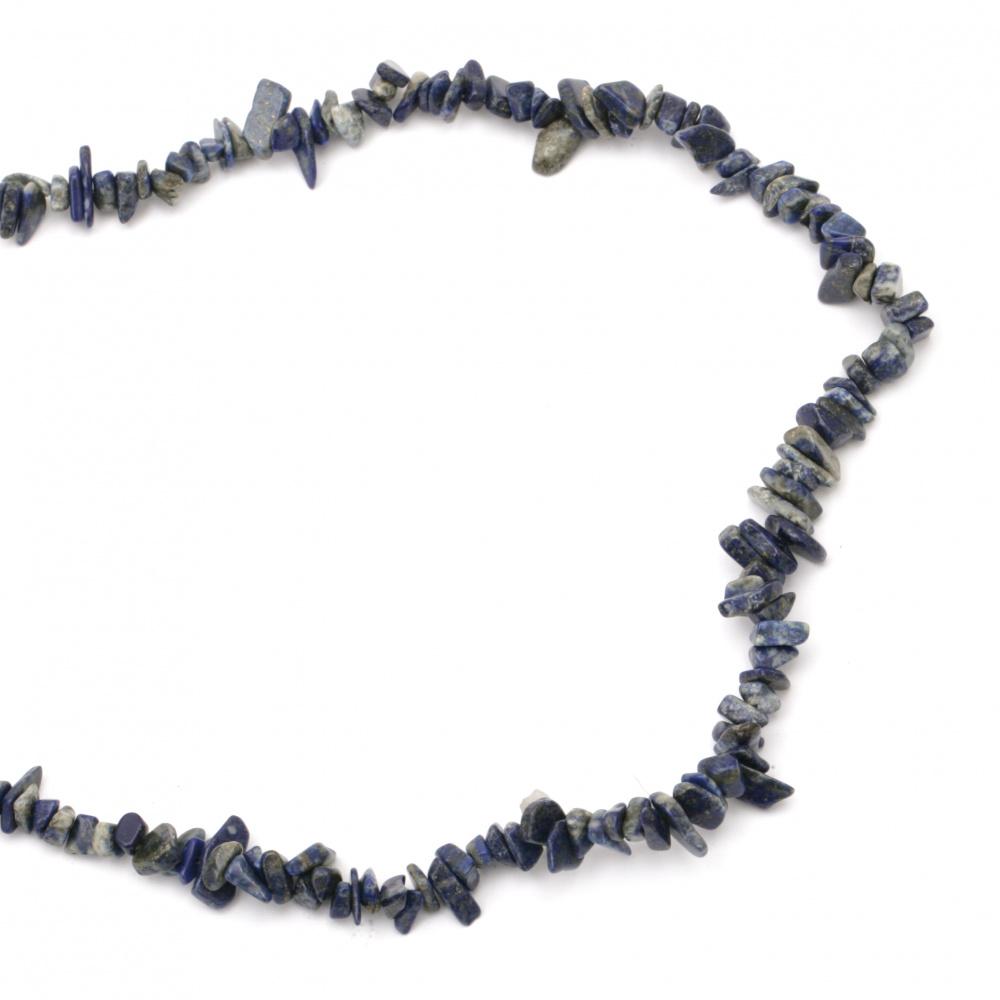 Șiruri de pietre semiprețioase cu șnur 5-7 mm ~ 90 cm LASULURI LAPIS
