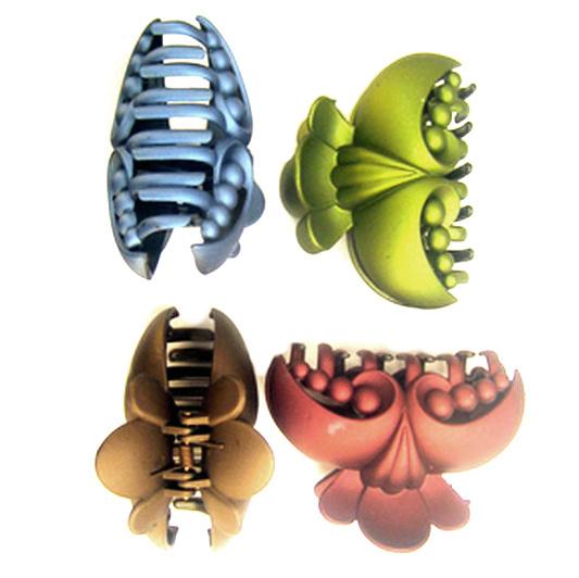 Κλάμερ μαλλιών 80x55 mm -12 τεμάχια διάφορα χρώματα