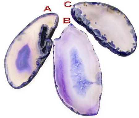 Αχάτης μωβ κρεμαστό ημιπολύτιμη 29 ~ 33x52 ~ 75x5 mm