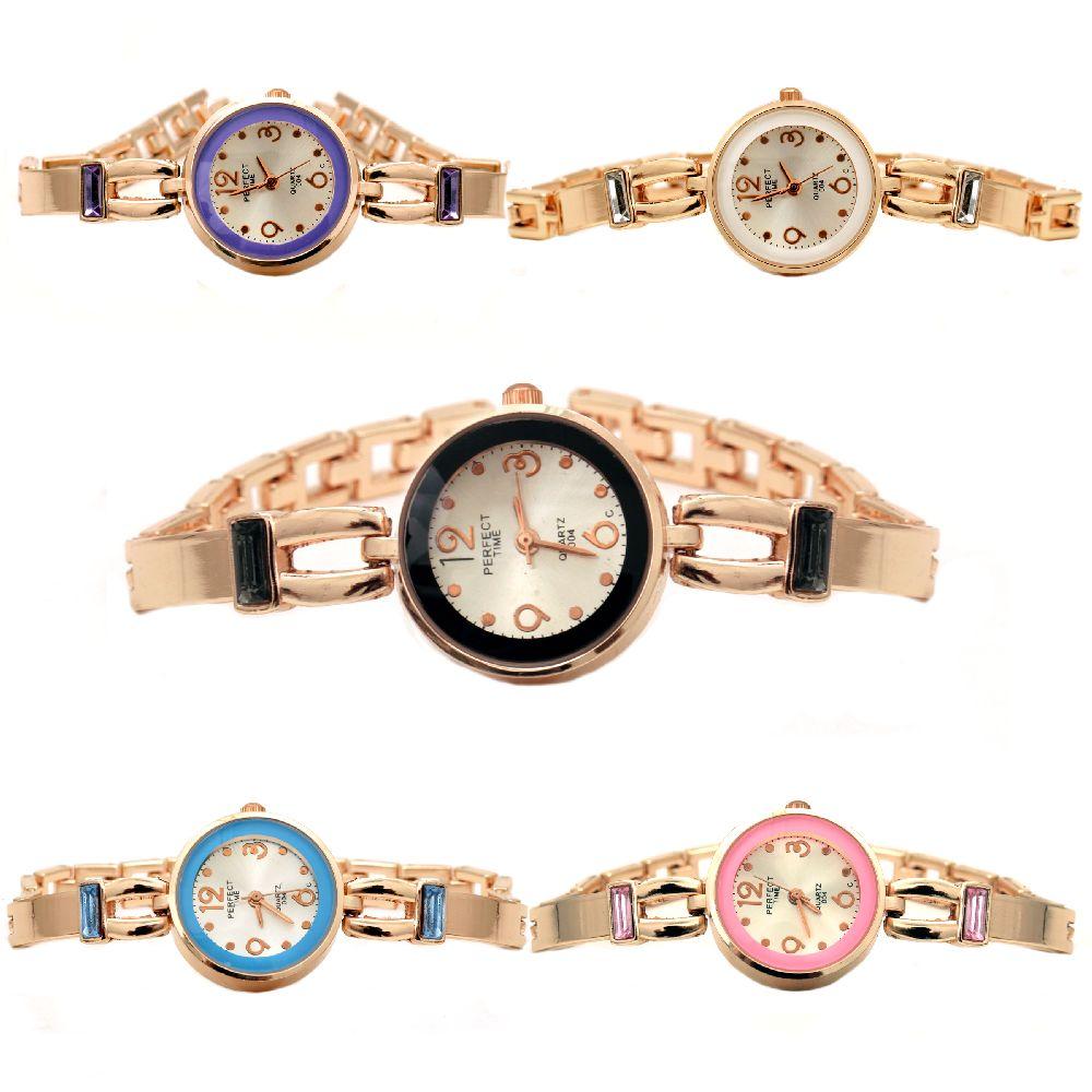 Часовник метал цвят злато 18 см АСОРТЕ