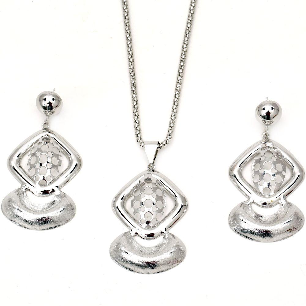Set de cercei colier metal