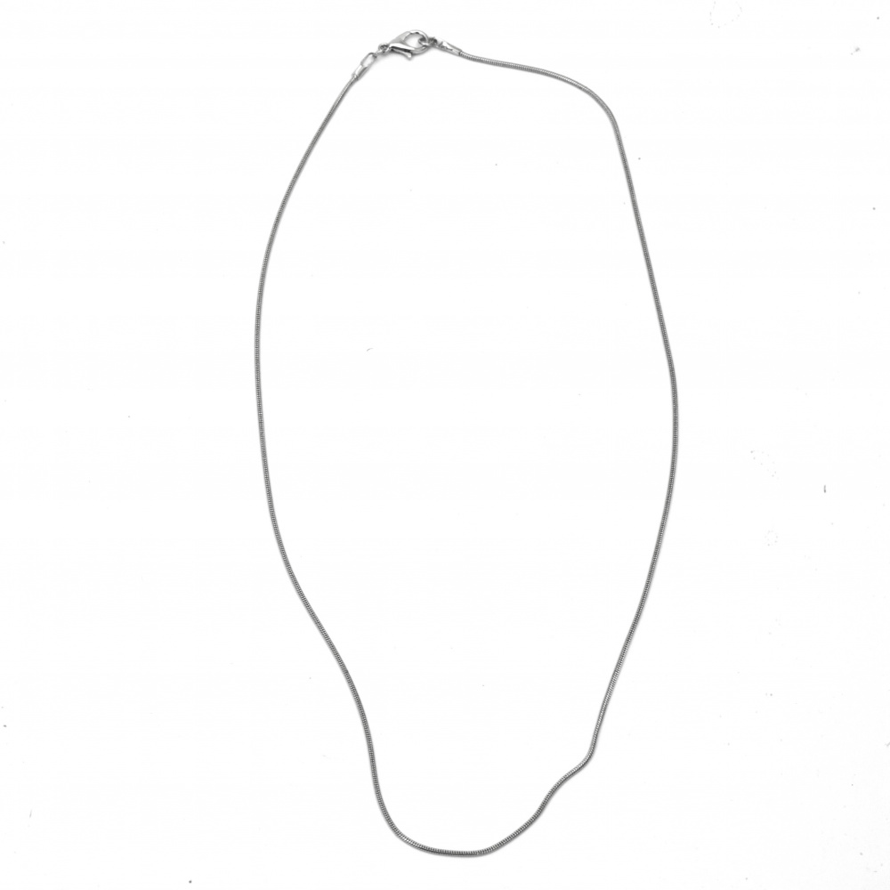 Lanț argintiu LUX 28-30 cm