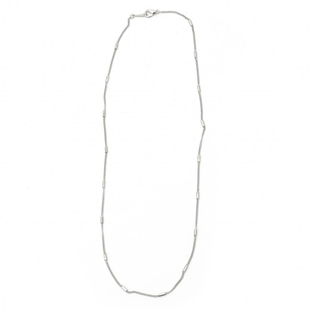 Lanț argintiu 2 mm 22-23 cm