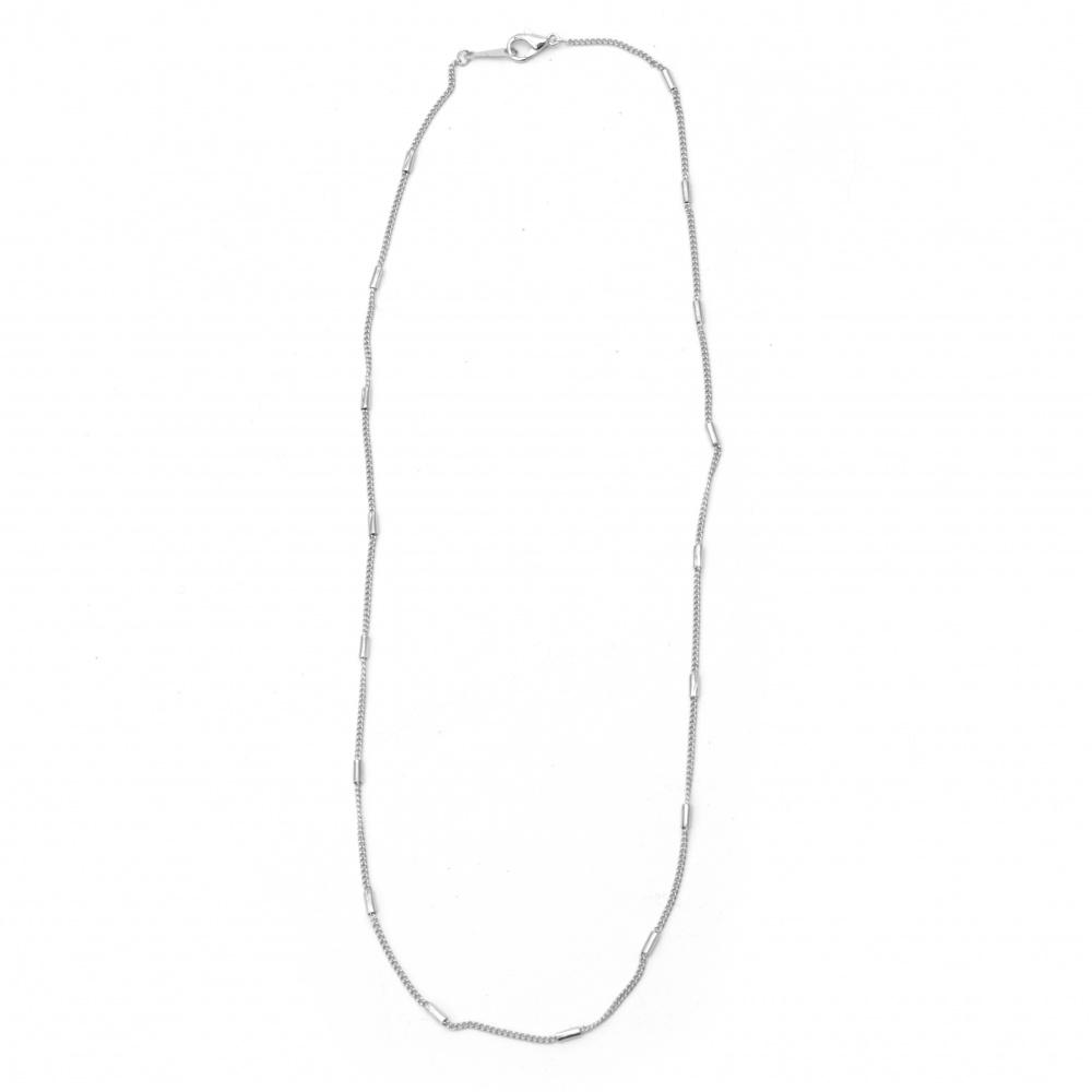 Αλυσίδα 2 mm, 22-23 cm  λευκό