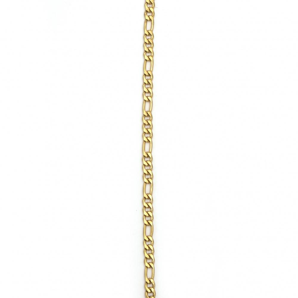 Lanț din oțel inoxidabil 316L 600x4 mm culoare auriu