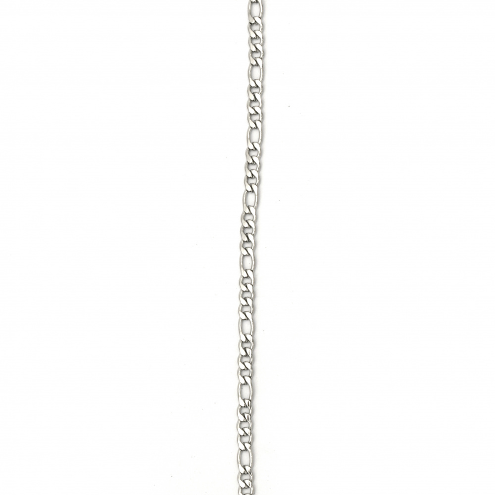 Αλυσίδα, Ατσάλι 316L 600x3 mm ασημί