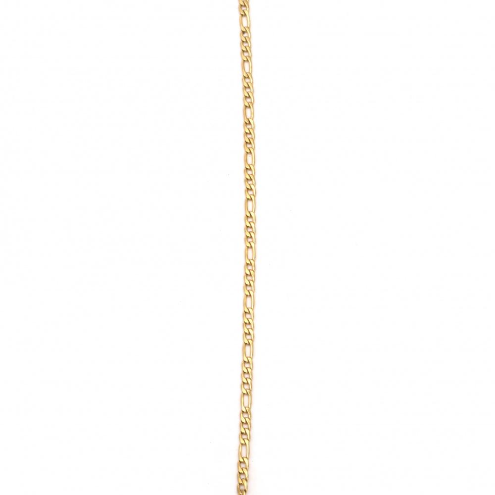 Αλυσίδα, Ατσάλι 316L 600x3 mm χρυσό