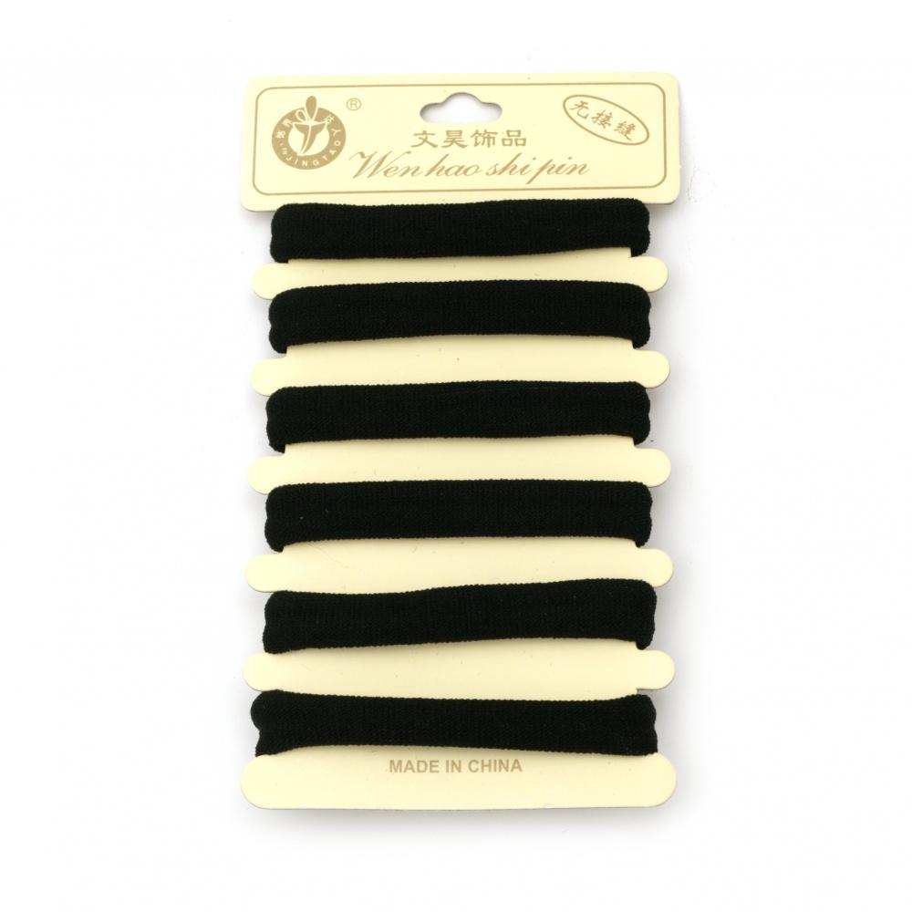 Hair elastic black -6 pieces
