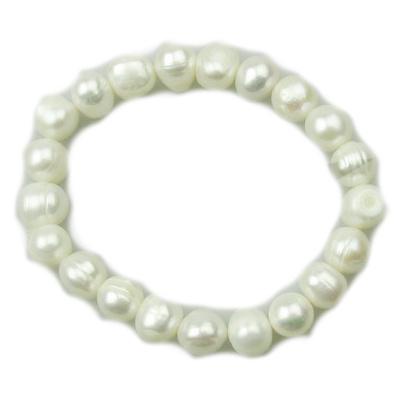 Гривна естествена перла 8~9x8~9 мм бяла клас АА