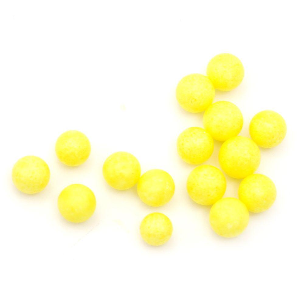 Styrofoam Ball, Yellow, Decoration, 7-9mm, ~7 grams, 1900 pcs, DIY Craft Decoration