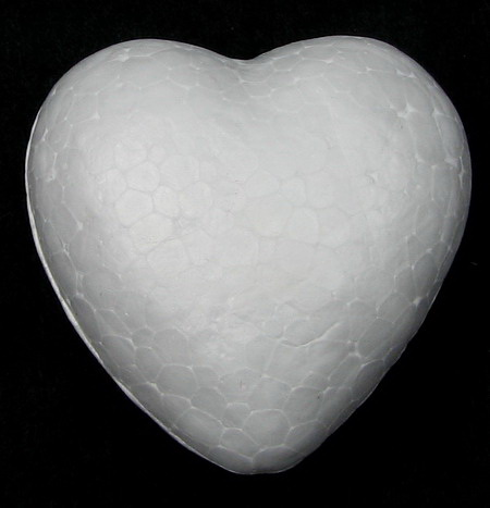 Styrofoam Heart, 50x50x27mm, 10 pcs