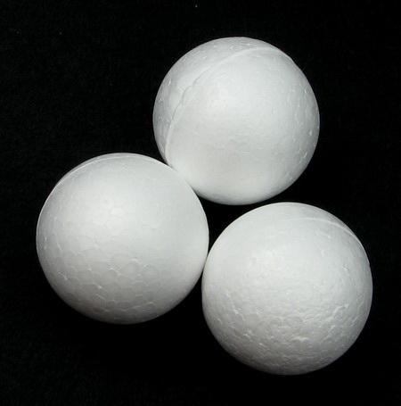 Φελιζόλ μπάλες 38 mm λευκό -10 τεμάχια