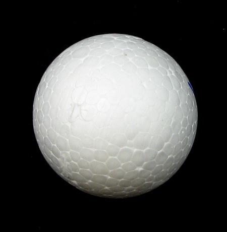 Φελιζόλ μπάλες 60 mm λευκό -5 τεμάχια