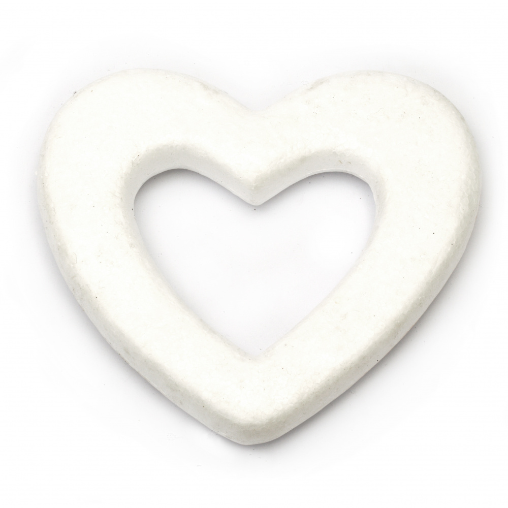 Styrofoam, Heart, hole, 175x160mm, 1 pcs