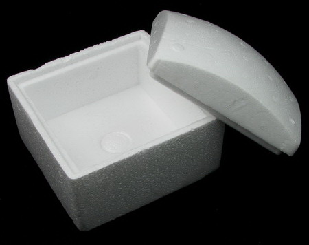 Styrofoam box with cover for decoration square 130x130x100 mm