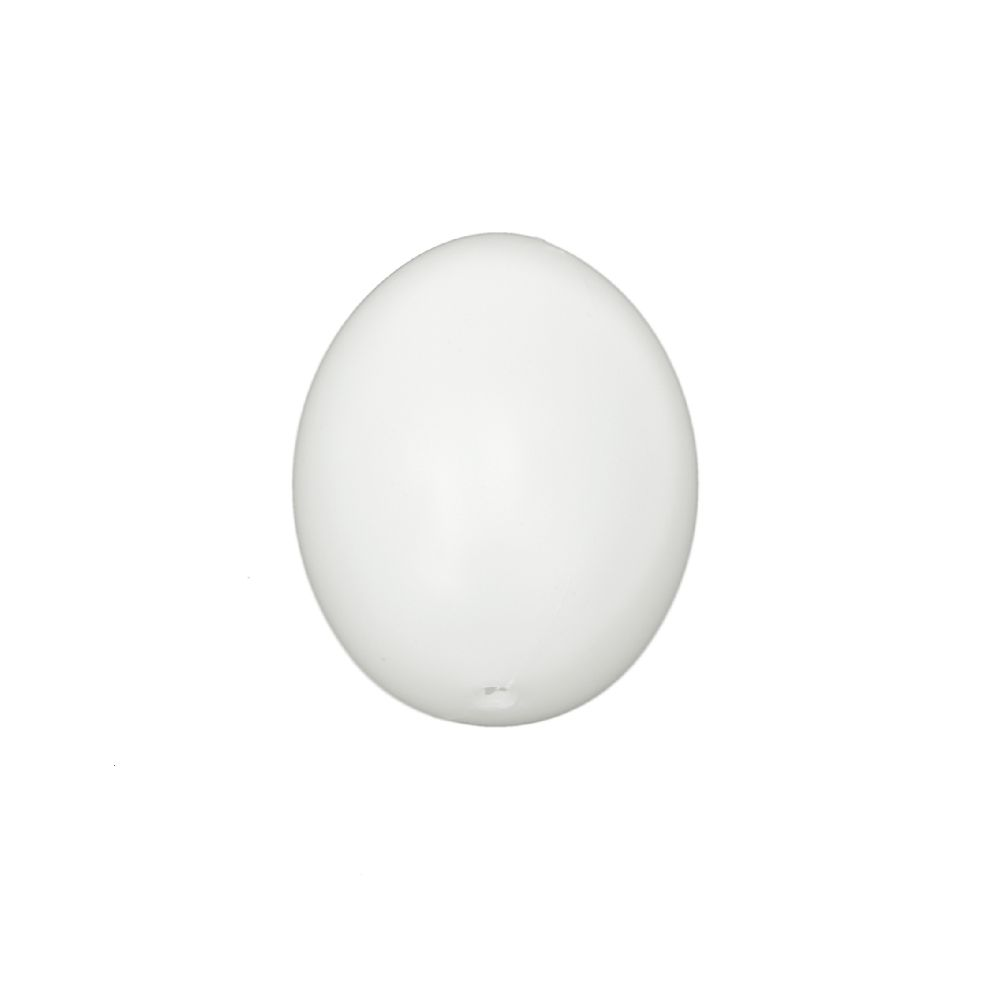 Plastic egg 60x45 mm with one hole 3 mm white - 5 pieces