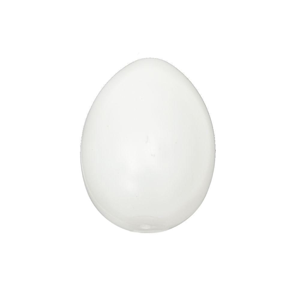 Яйце пластмаса 80x59 мм с една дупка 3 мм бяло