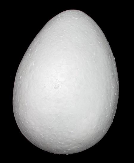 Яйце стиропор 150x110 мм за декорация -1 брой