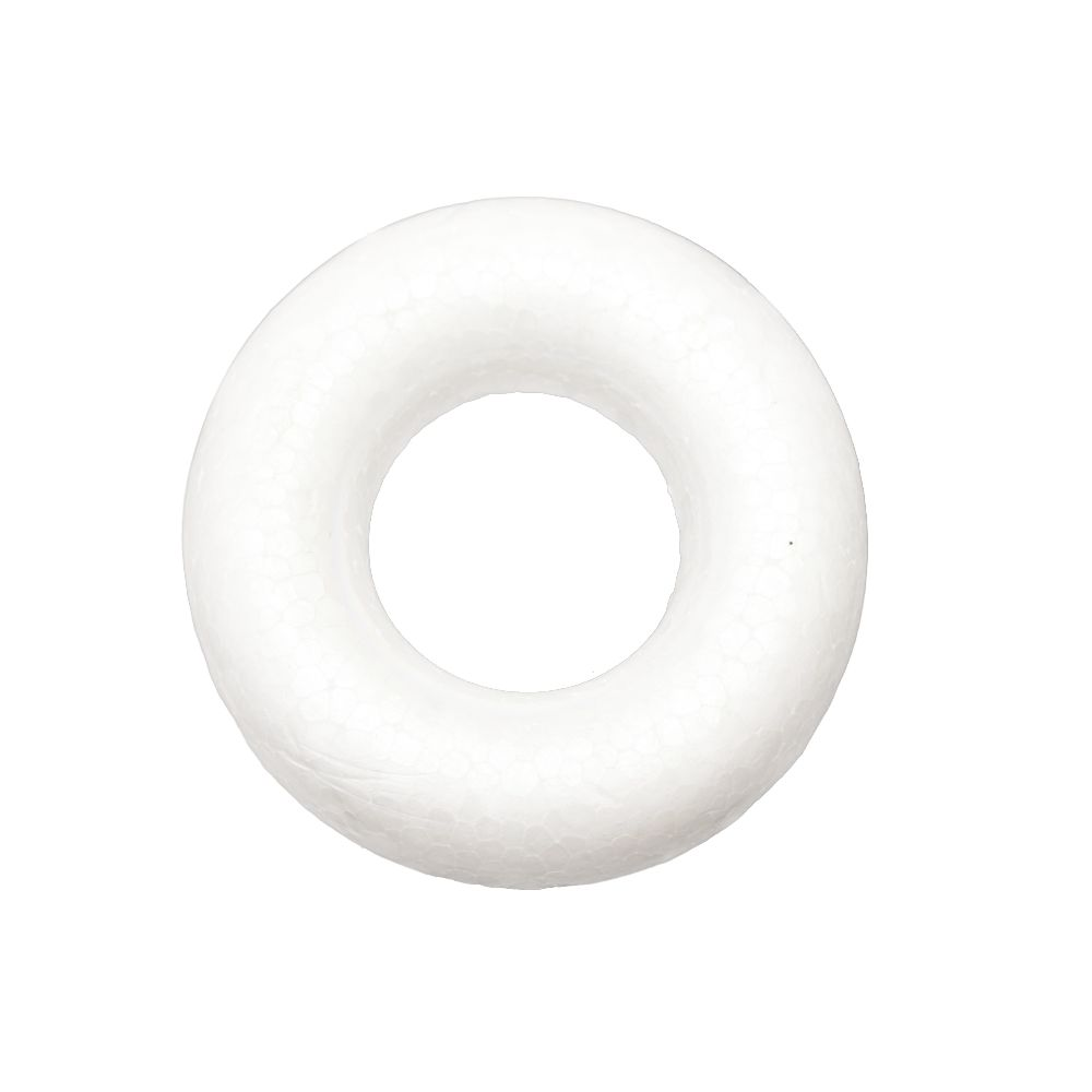 Polystyrene Ring 73x12 mm round and flat side for decoration -5 pieces, DIY Decoration Craft Hobby