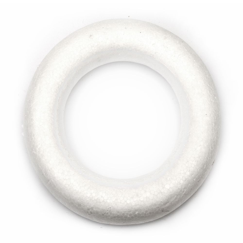 Styrofoam Ring 160 mm round for decoration -2 pieces