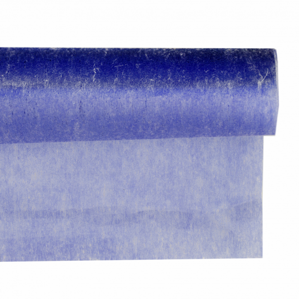Текстилна хартия за опаковане физелин 545x550 мм синя